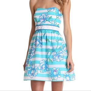 Lilly Pulitzer Langley Shorely Blue Beaded Dress 6